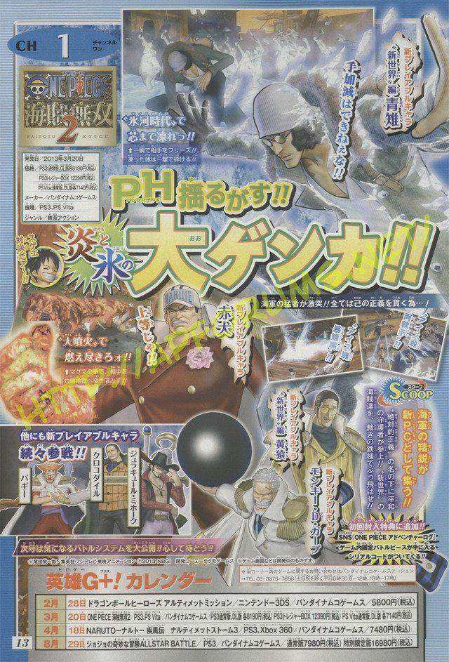 One Piece Pirate Warriors 2 NPJogaveis Anunciados novos personagens jogáveis de One Piece: Pirate Warriors 2