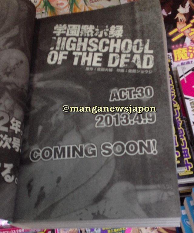 H.O.T.D Highschool of the Dead com data de retorno