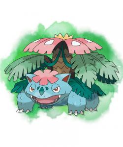 Mega Venusaur 250x300 Pokémon X e Y: Bulbasaur, Charmander e Squirtle estão de volta!