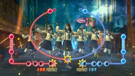 AKB48 ZombieArcadeGame 3 468x263 Jogo em Arcade do grupo AKB48 de zumbi