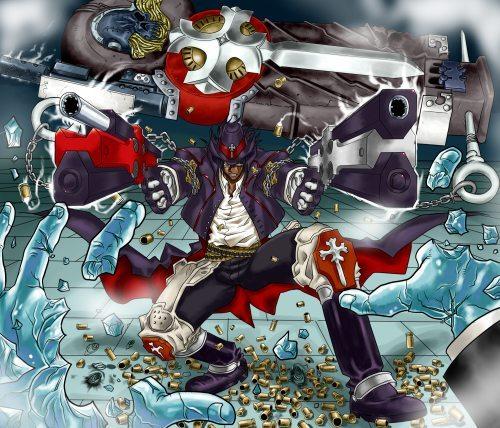 gungrave fanart 500x428 Top 10: Animes de ação com armas?Recomendação?