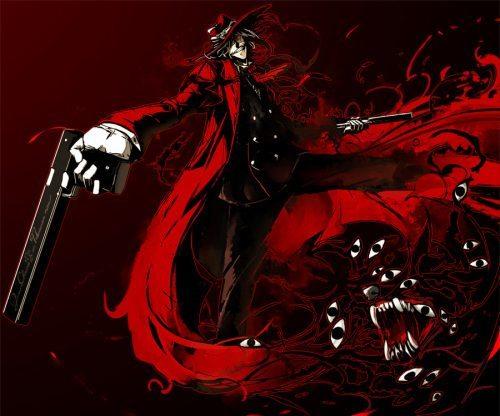 hellsing fanart 500x416 Top 10: Animes de ação com armas?Recomendação?