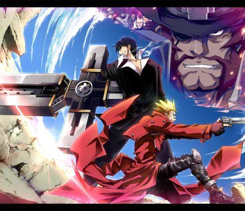 trigun fanart 500x432 Top 10: Animes de ação com armas?Recomendação?