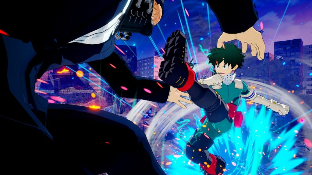 Boku no Hero One's Justice, Midoriya chutando One For All