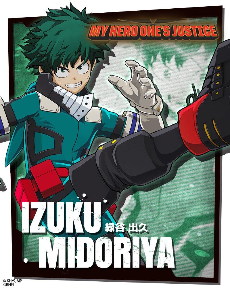 boku no hero, Midoriya chutando