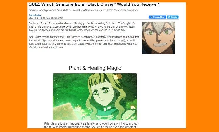 Quiz Black Clover