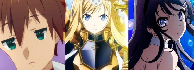 Konosuba/Sword Art Online/ Seishun Buta Yarou